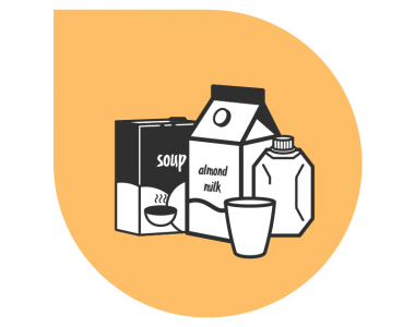 SOUP, MILK, AND DAIRY SUBSTITUTE TETRA PACKS
